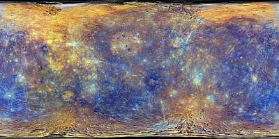 Mercury Art Print by Nasa/johns Hopkins University Applied Physics Laboratory/carnegie Institution Of Washington