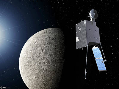 Mercury Planetary Orbiter Art Print by Esa - P. Carril