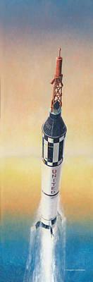 Painting - Mercury-redstone by Douglas Castleman