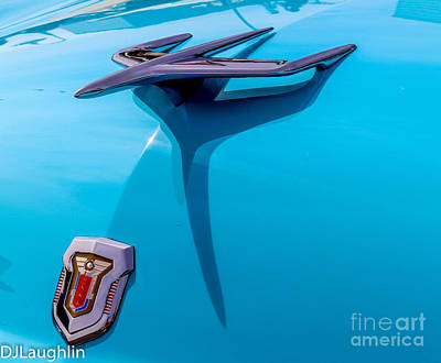 Photograph - Mercury Rocket Hood Ornament Emblem by DJ Laughlin