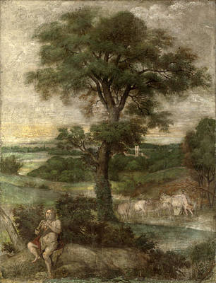 Painting - Mercury Stealing The Herds Of Admetus by Domenichino and Assistants