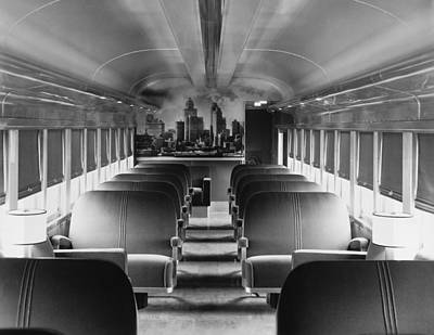 Mural Photograph - Mercury Train Coach Interior by Underwood Archives
