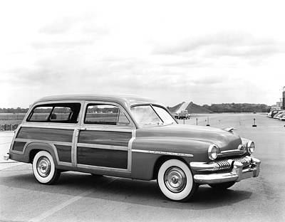 Old Woody Station Wagon Wall Art - Photograph - Mercury Woody Station Wagon by Underwood Archives