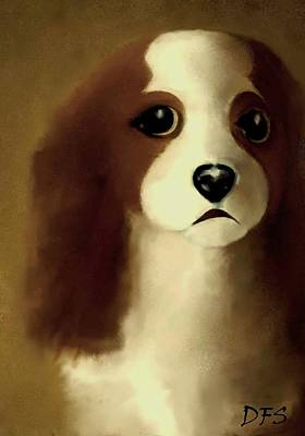Painting - Merecedes  Our Cavalier King Charles Spaniel  No. 1 by Diane Strain