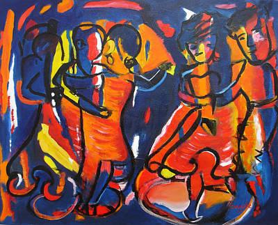 Merengue Painting - Merengue - Dance by Marino Chanlatte