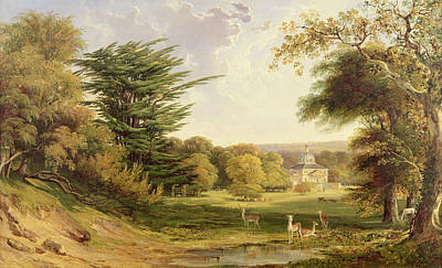 Mereworth Park, Kent Art Print by John F. Tennant