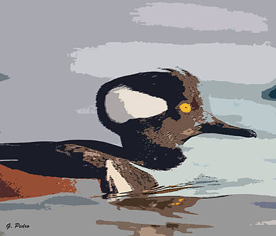 Painting - Merganser Reflections by George Pedro