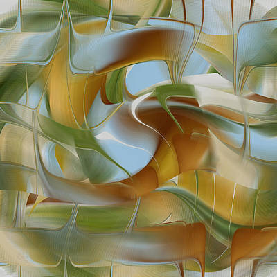 Digital Art - Merging Flow by rd Erickson