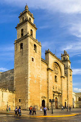Photograph - Merida Cathedral Bathed In Sunlight by Mark E Tisdale