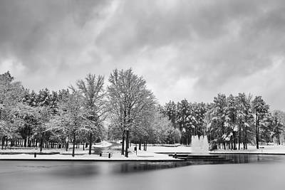 Photograph - Meridian Parkway Winter by Ben Shields