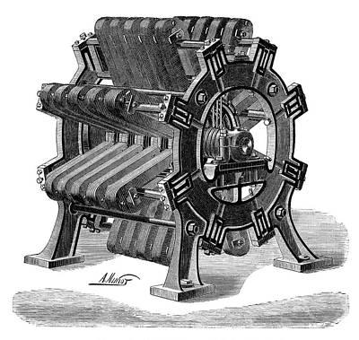 Meritens Magneto Generator Art Print by Science Photo Library