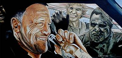 Walking Dead Painting - Merle's Last Stand by Al  Molina