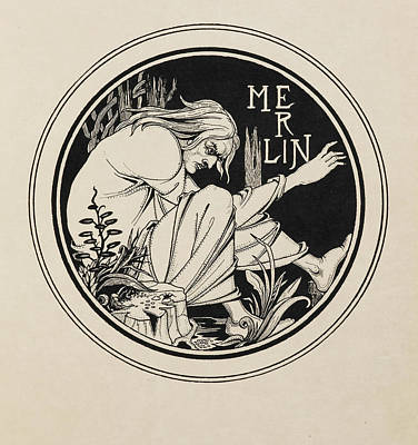 Famous Book Photograph - Merlin by British Library
