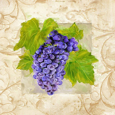 Chardonnay Wine Painting - Merlot II by Lourry Legarde