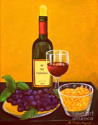 Painting - Merlot Nuts - Valentines by Shelia Kempf