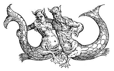 Mermaid & Merman, 1642 Art Print