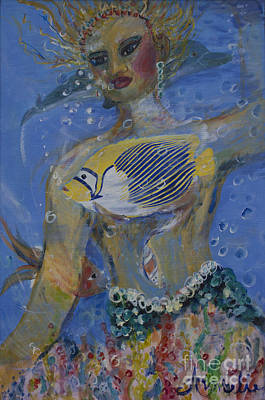 Art Print featuring the painting Mermaid by Avonelle Kelsey