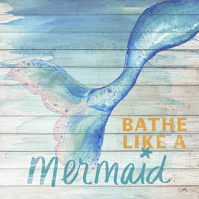 Mermaids Wall Art - Painting - Mermaid Bath I by Elizabeth Medley
