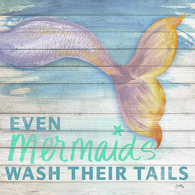 Mermaid Tail Painting - Mermaid Bath II by Elizabeth Medley