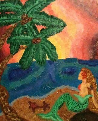 Naiad Painting - Mermaid Beach by Oasis Tone