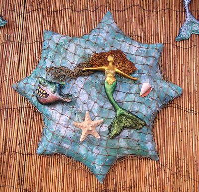 Mixed Media - Mermaid Catch by Dan Townsend