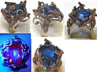 Shibuichi Jewelry - Mermaid Fantasy Ring by Michelle  Robison