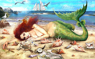 Digital Art - Mermaid by Frank Harris