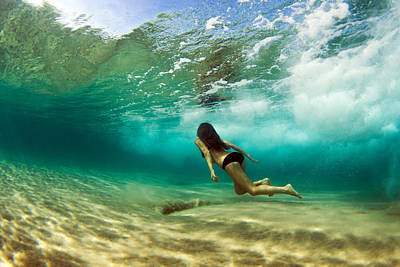 Underwater Photograph - Mermaid I by Love and Water Photography