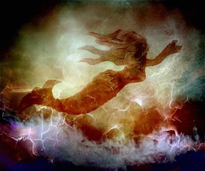 Mermaid In A Storm Art Print by Irma BACKELANT GALLERIES