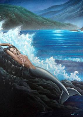 Mermaid Painting - Mermaid by Lauri Loewenberg