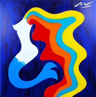 Mermaid Art Print by Mac Worthington