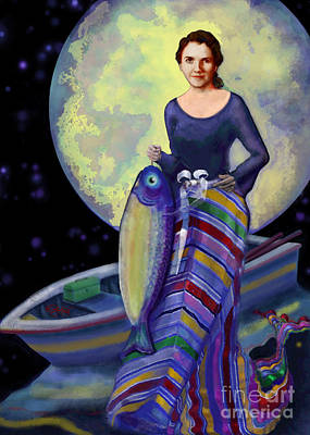 Figurative Digital Art - Mermaid Mother by Carol Jacobs