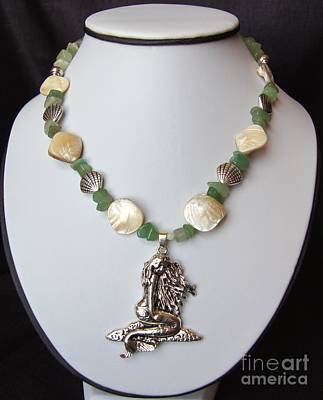 Sea Wall Art - Jewelry - Mermaid Necklace by Megan Cohen