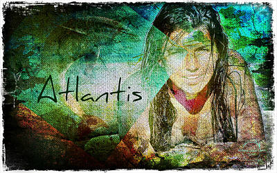 Mermaid Artwork Digital Art - Mermaid Of Atlantis by Absinthe Art By Michelle LeAnn Scott