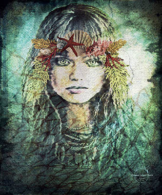 Digital Art - Mermaid Of The Deep by Absinthe Art By Michelle LeAnn Scott