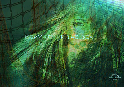Digital Art - Mermaid Of The Sea by Absinthe Art By Michelle LeAnn Scott