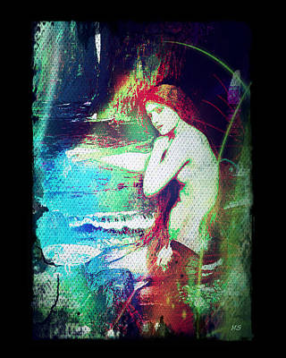Digital Art - Mermaid Of The Tides by Absinthe Art By Michelle LeAnn Scott