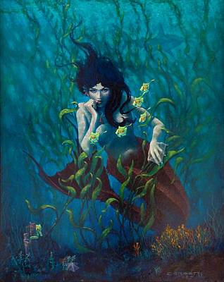 Painting - Mermaid by Rob Corsetti