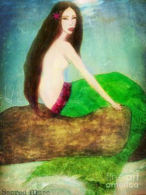Mermaid  Art Print by Sacred  Muse
