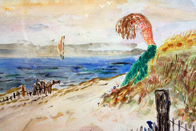 Mermaid Signalling Her Sailors Art Print