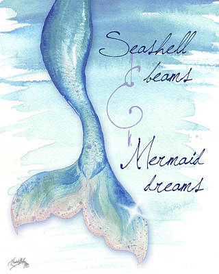 Mermaid Tail Painting - Mermaid Tail I by Elizabeth Medley