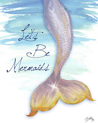 Mermaid Tail Painting - Mermaid Tail II by Elizabeth Medley