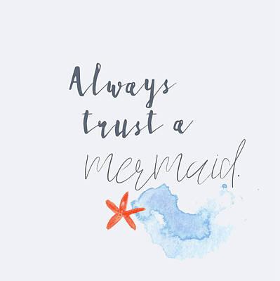 Wall Art - Painting - Mermaid Trust by Pamela J. Wingard