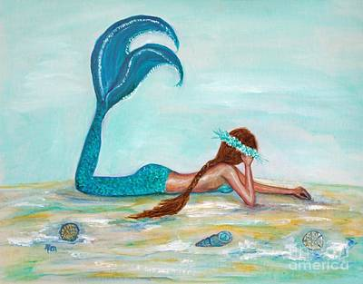 Painting - Mermaids Exist by Leslie Allen