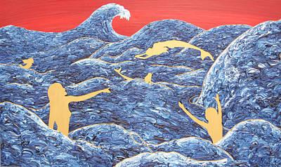 Nix Painting - Mermaids Playing by Antonio Wehrli