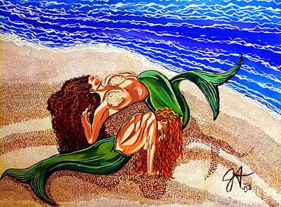 Mermaids Spent Jackie Carpenter Art Print