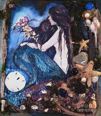 Painting - Mermaids Treasures by Valarie Pacheco