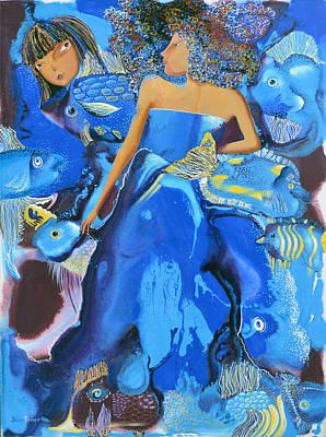 Mermaids Art Print by Yelena Revis