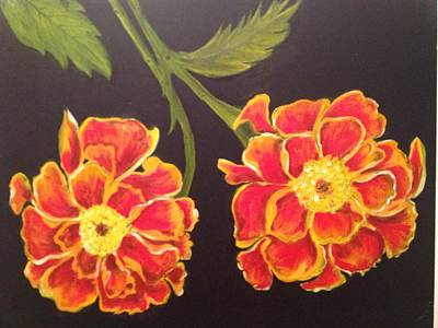 Art Print featuring the painting Merrigolds by Brindha Naveen