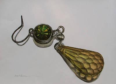 Merrill's Earring Art Print by Heidi E  Nelson